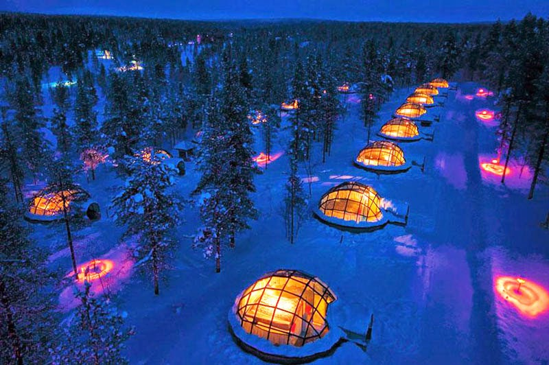 2. Hotel Kakslauttanen, Finland - 10 Amazing Hotels You Need To Visit Before You Die