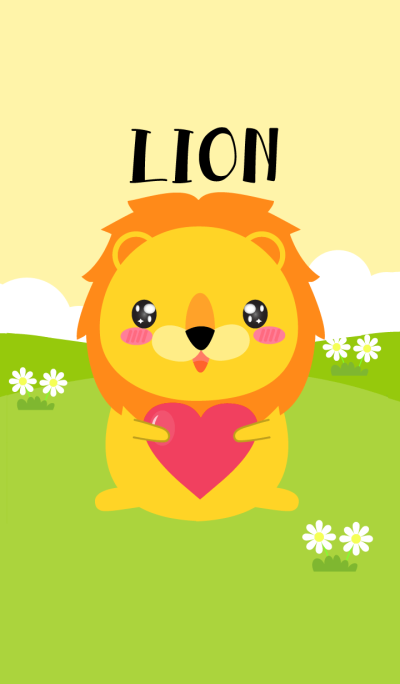 Simple Love Cute Lion Theme