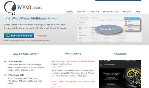 Download WPML v3.2.2 Multilingual WP Plugin Plus Addons Pack