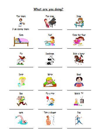 Materi Bahasa Inggris untuk Anak Level 1 (Usia 7 - 9 Tahun): What are  You Doing? (Apa yang Sedang Kamu Lakukan?)