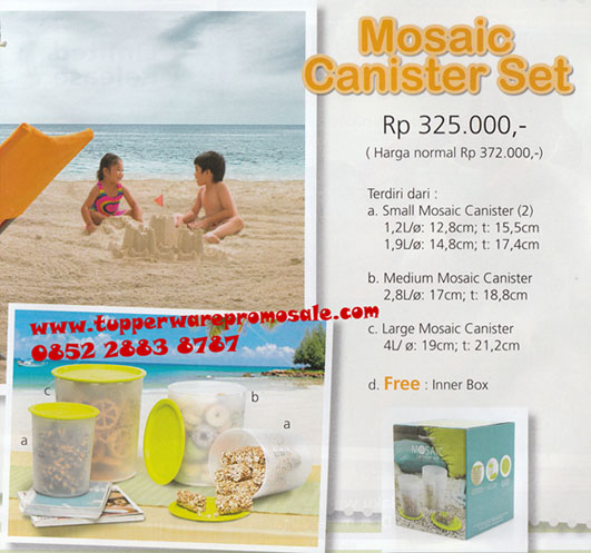 Tupperware Promo Sale Tupperware Tupperware Indonesia Tupperware Promo Tupperware Promo Sale Mosaic Canister Set 531x497