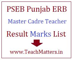 image : Punjab Master Cadre Teacher Result 2021 Marks List @ TeachMatters