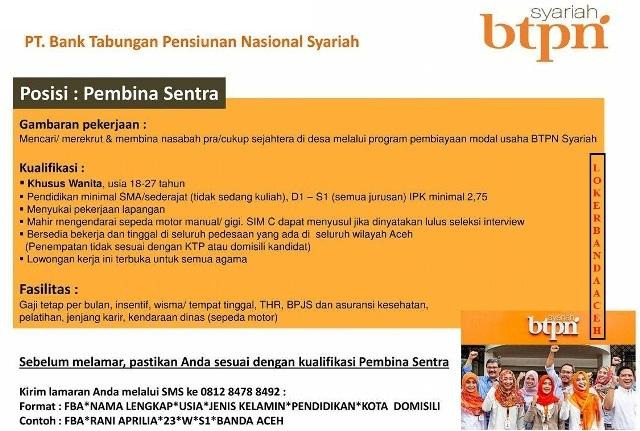 Lowongan kerja bank di Banda Aceh