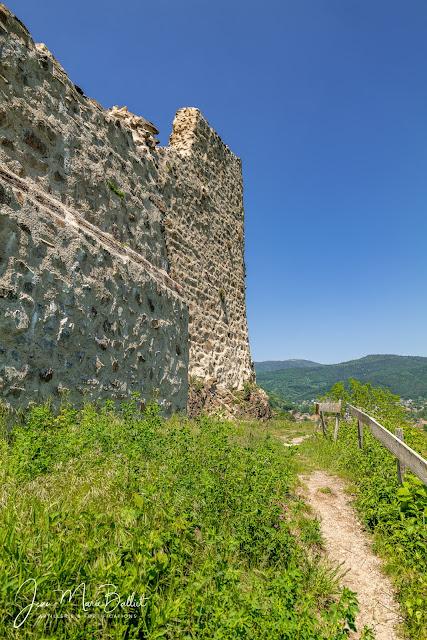 Château du Hugstein — Courtine nord-est