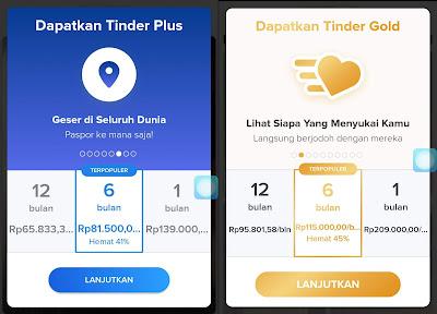 Tinder Plus dan Gold