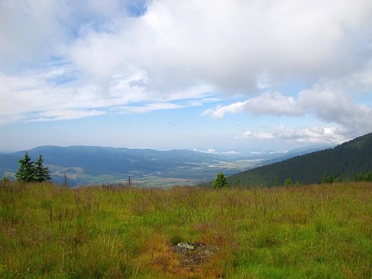 Widok na dolinę Hronu.
