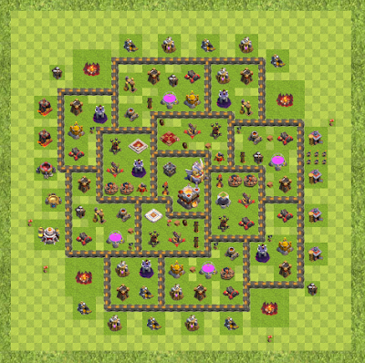 War Base Town Hall Level 11 By anonymous (TH 11 Layout)