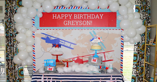 {My Parties} Greyson's Time Flies Airplane Party