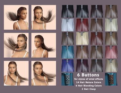 Astrid Hair for Genesis 3 Female