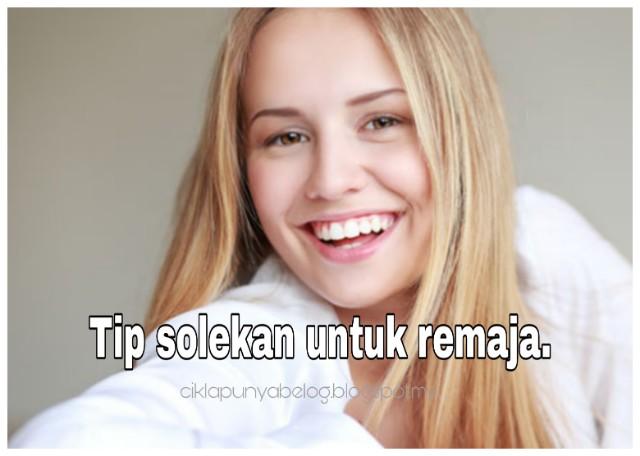 Tip solekan untuk remaja.