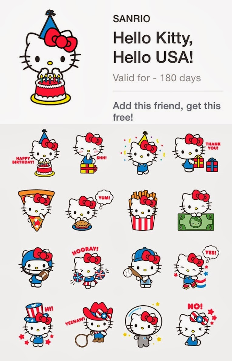 LINE Stickers Community: Free line stickers from USA - Hello