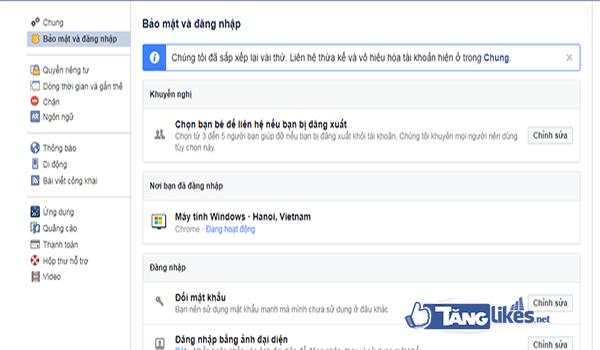 cach bao mat facebook