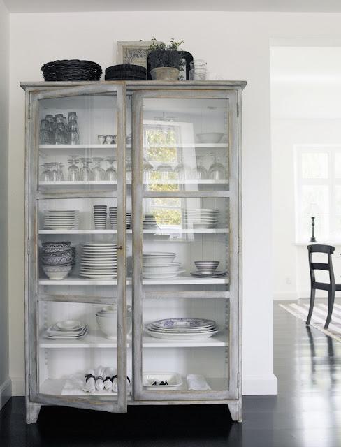 kitchen glass display units