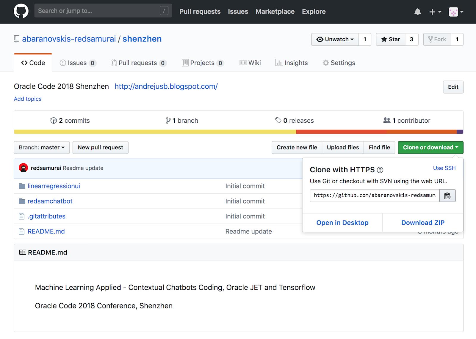 Andrejus Baranovskis Blog: Contextual Chatbot with TensorFlow, Node