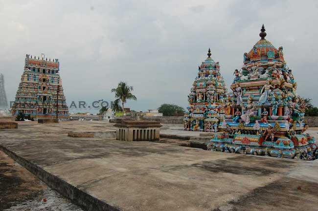 View Of  Arthanareeswarar Temple Vimanams