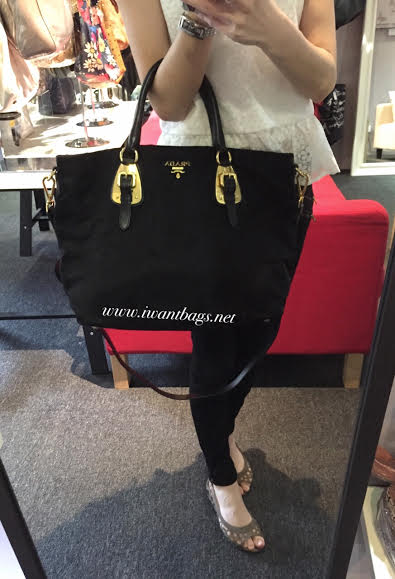 48a315f6f758 ... where can i buy prada bn1902 tessuto nylon top handle bag black e93dd  d82e8 ...