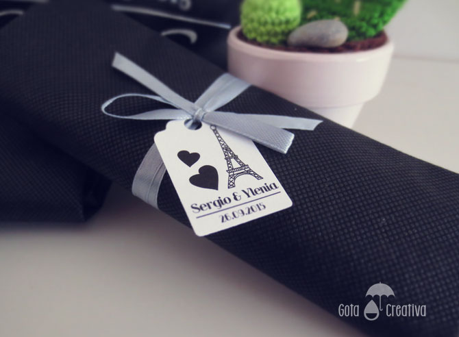 bolsa personalizada detalle boda gota creativa