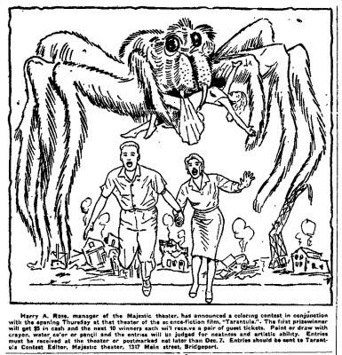 Giant Tarantula Spider Coloring Sheet