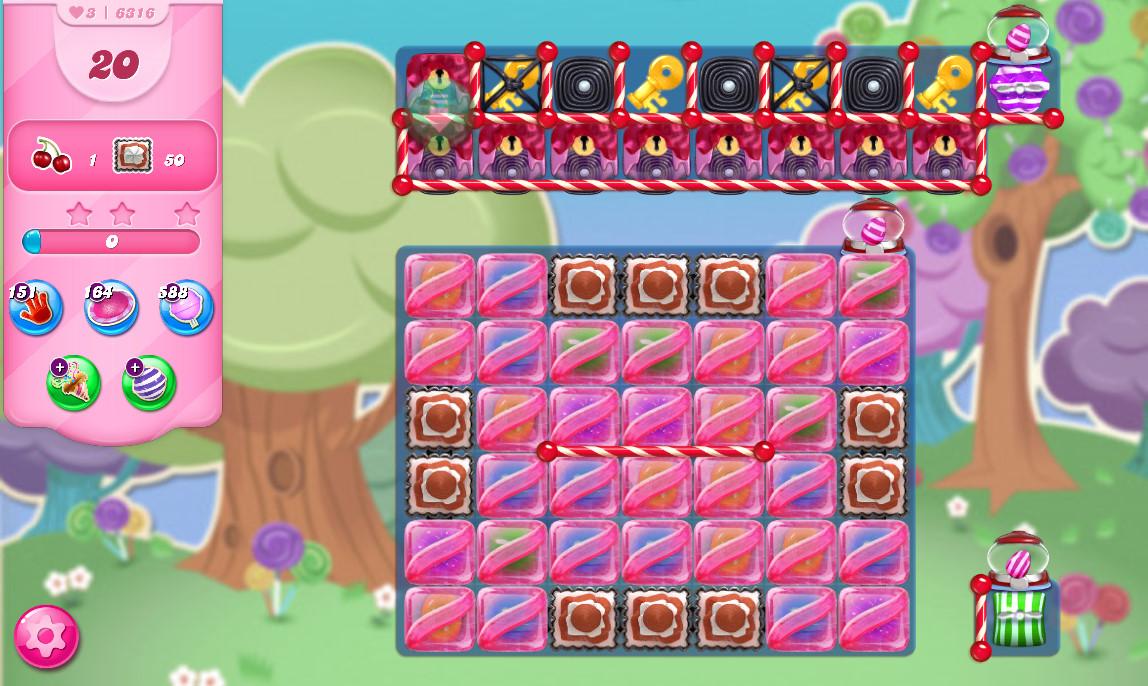 Candy Crush Saga level 6316