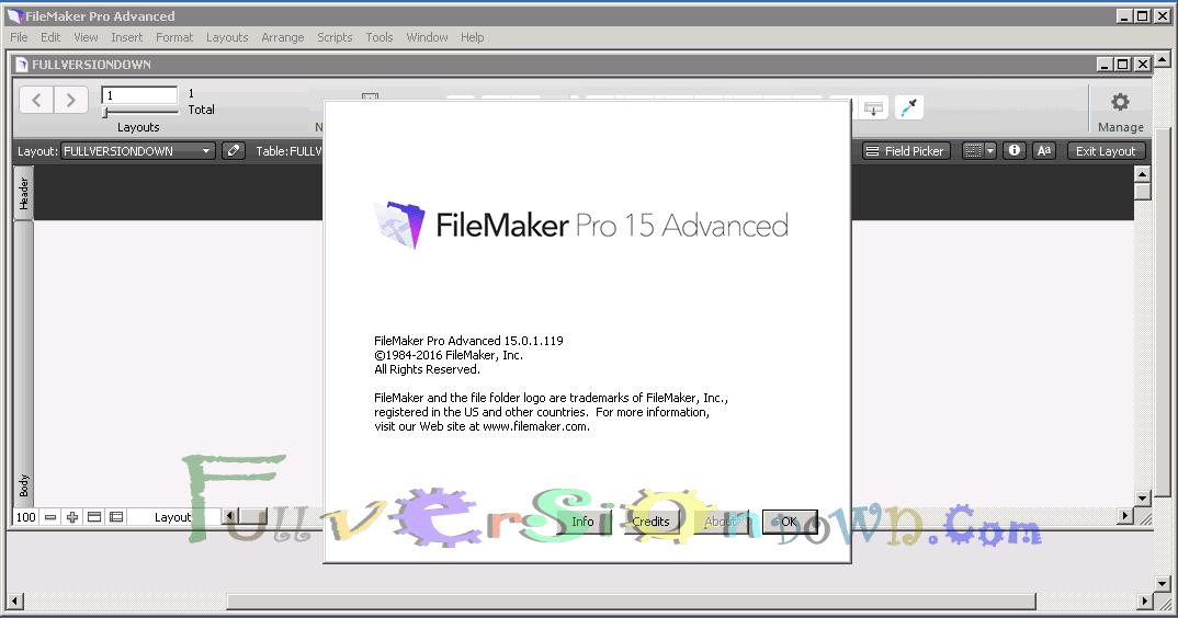 FileMaker Pro 15 Advanced Full Version