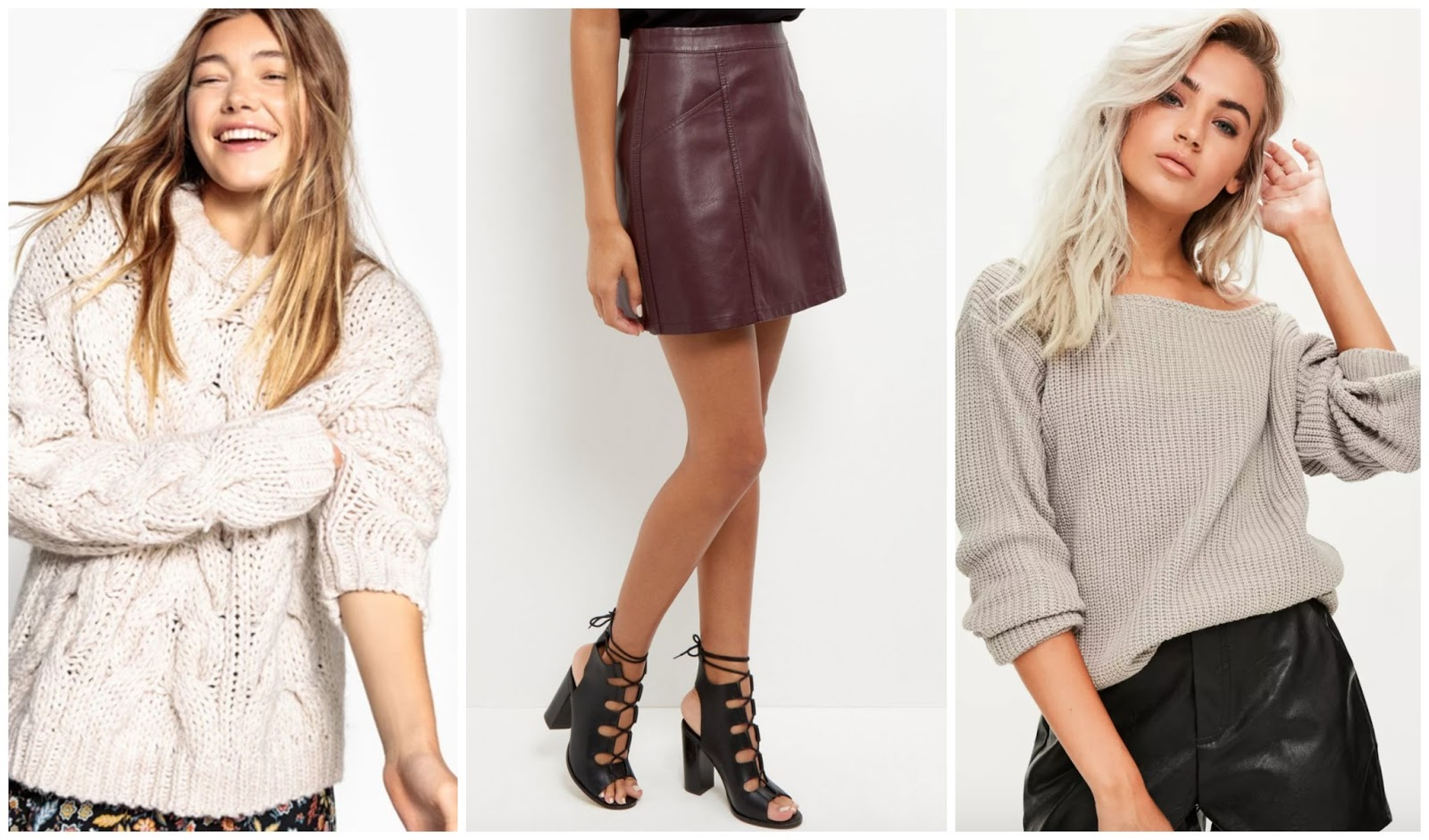 Autumn Wishlist - jumper, skirt, jumper