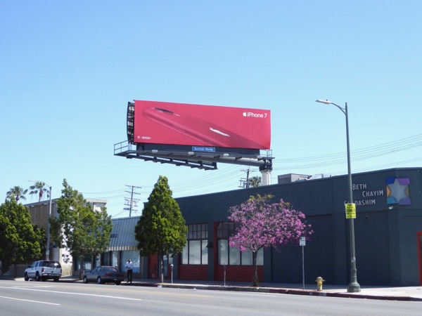 iPhone 7 red billboard