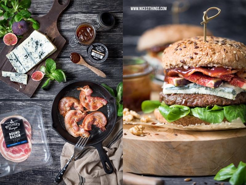 Herbstliches Burger Rezept mit Butcher's Burger von PENNY, Feigen und Gorgonzola