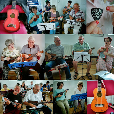 Wukulele Uke Jam at Worthing Rowing Club, August 2015