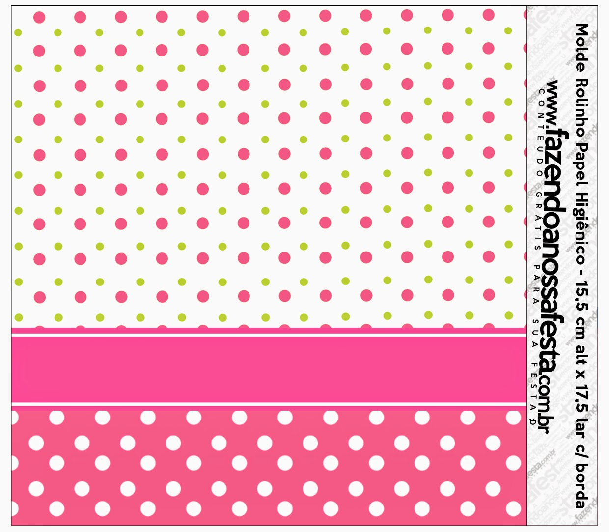 Pink, Green and White Polka Dots Free Printable Candy Bar Labels.