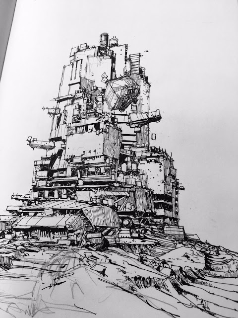mortal engines inspired sketch