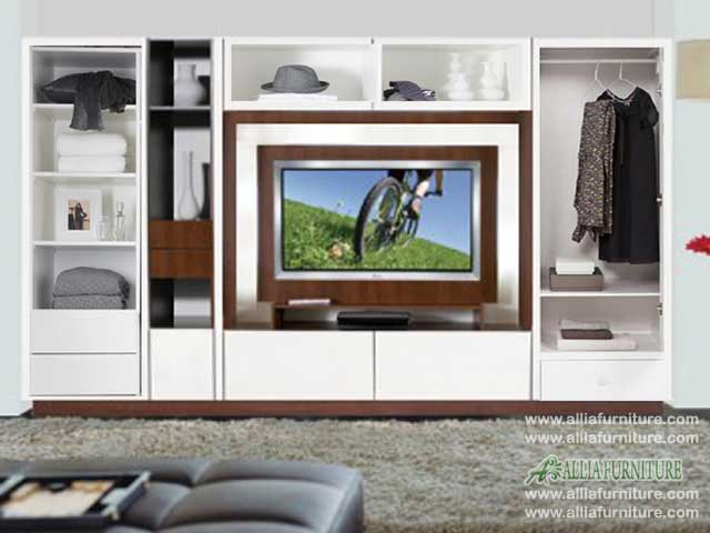 lemari baju tv lcd minimalis model west