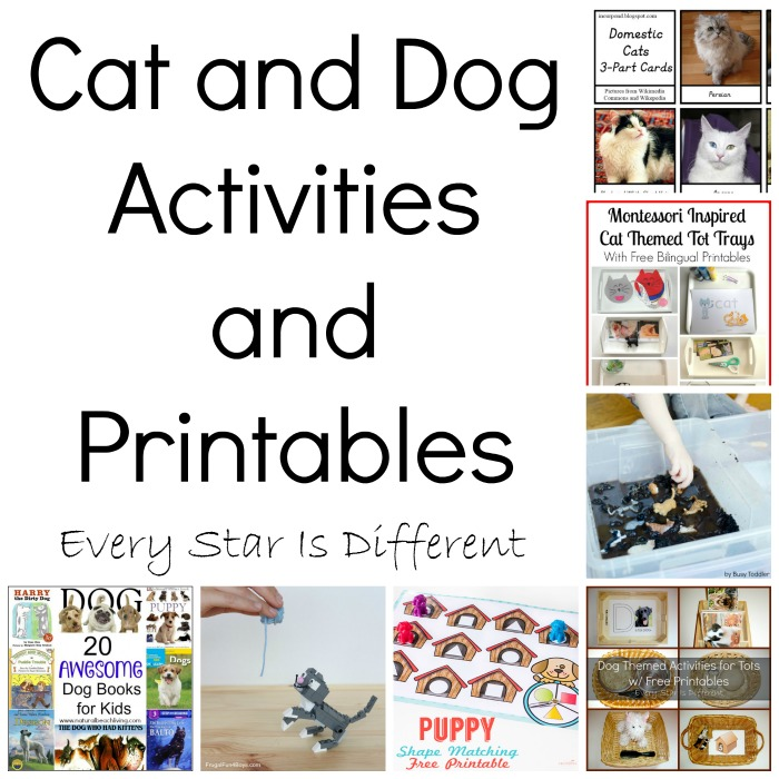 Cat And Dog Activities Printables