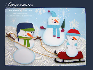snowman family Christmas card