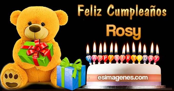 Feliz Cumpleaños Rosmery