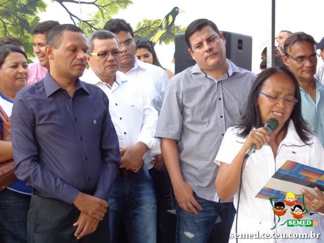 Inauguração da Escola Mun. Dr. José Hamilton Lins em Xexéu