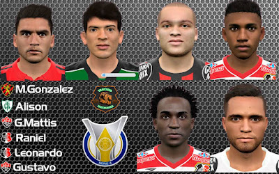 PES 2016 Mini Facepack Brasileirao Serie A by Tarcisio Facemaker