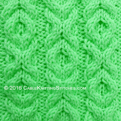 Cable Knitting Stitches » Hugs and Kisses stitch - pattern 2