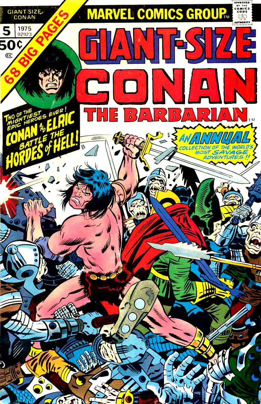 Giant-size Conan the Barbarian v1 # marvel comic book cover art by Jack Kirby