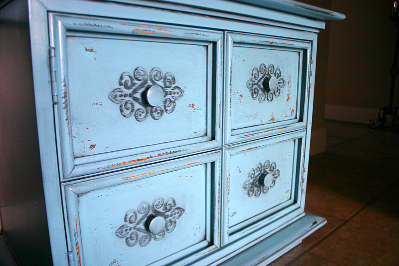 Doubletake Decor Funky Teal Headboard Amp Nightstands