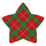 クリスマスのマーク(チェック・星型)