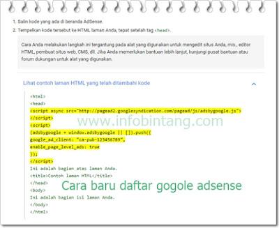 syaratan baru untuk daftar google adsense