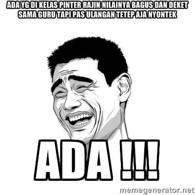 20 Meme Nyontek Ini Lucu Banget Bikin Kangen Saat UN