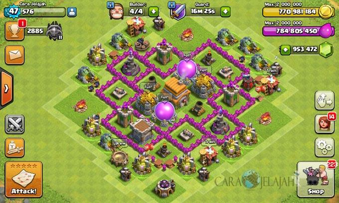 pertahanan terbaik untuk base war th 6 di clash of clans 6