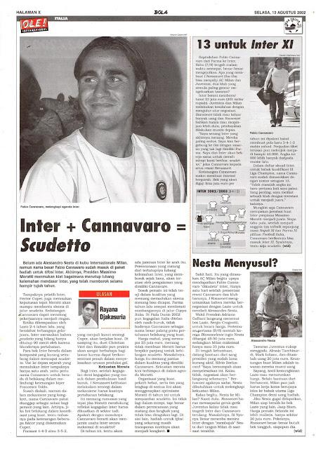 ITALIA: INTER + CANNAVARO = SCUDETTO