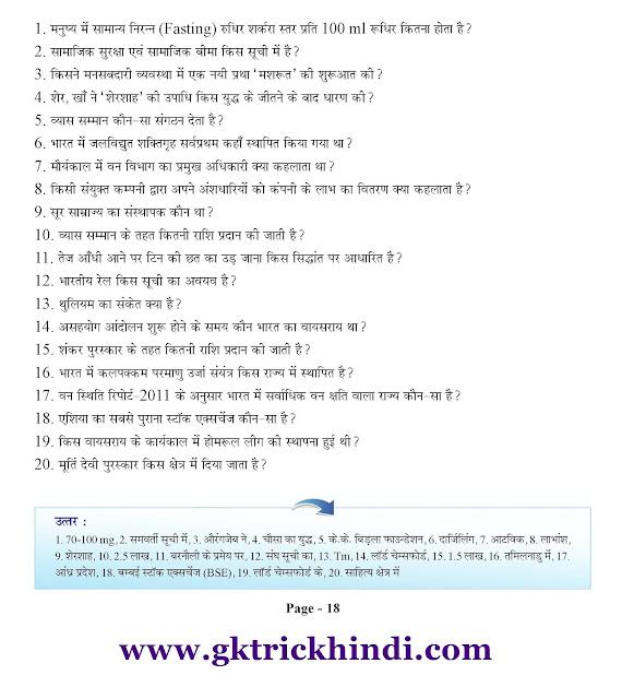 Free GK PDF in Hindi