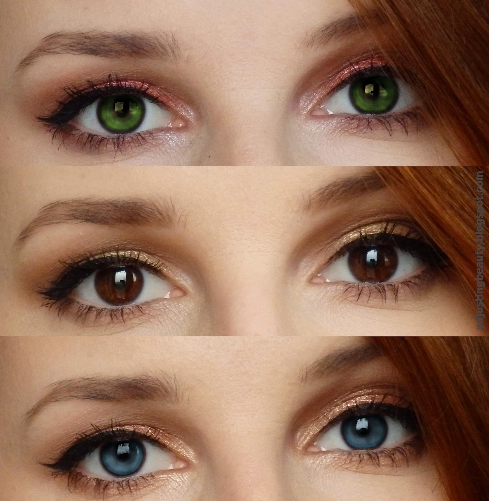 Adding color to basic eye makeup (for different eye colors ...