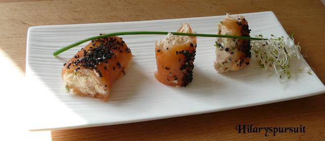 Cannellonis de saumon fumé et sa mousse de poisson