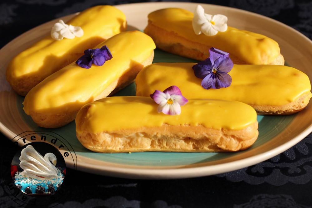 Éclair au citron craquelin croustillant de Ferrandi (pas à pas en photos