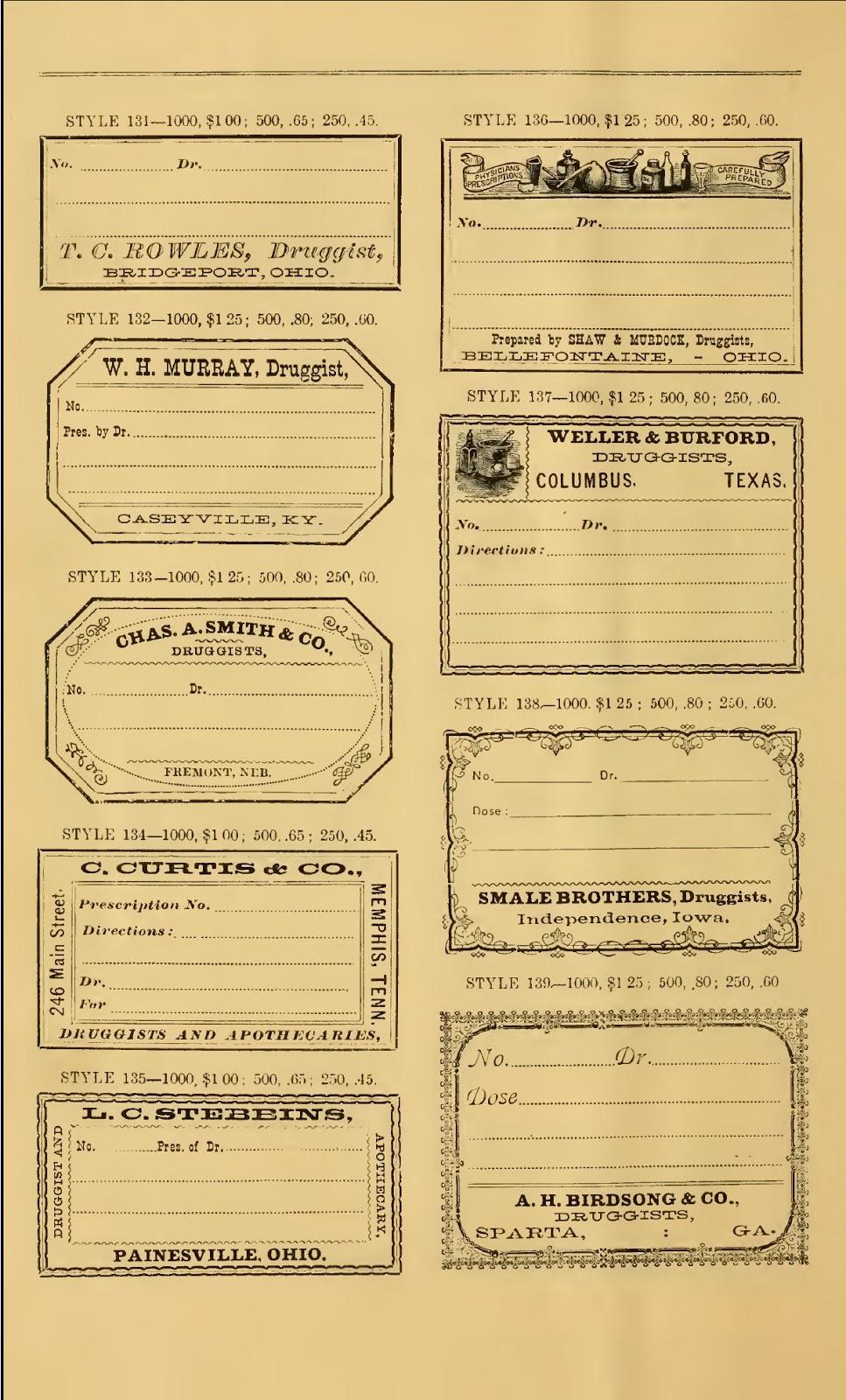 Creative digi vintage: FREE VINTAGE PHARMACY LABELS