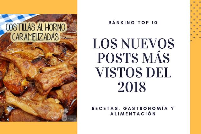 Top 10: las recetas de cocina y posts gastronómicos más vistos del 2018